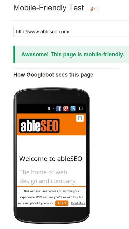 ableseo Google Mobile Friendly