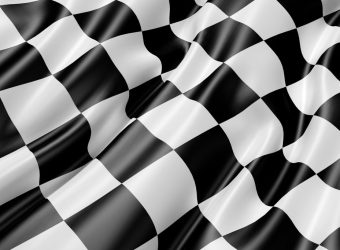 Race day track flag